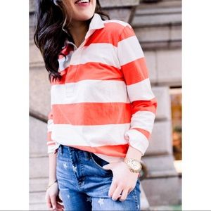 J. Crew NWT Striped Heritage Rugby Polo Shirt Top